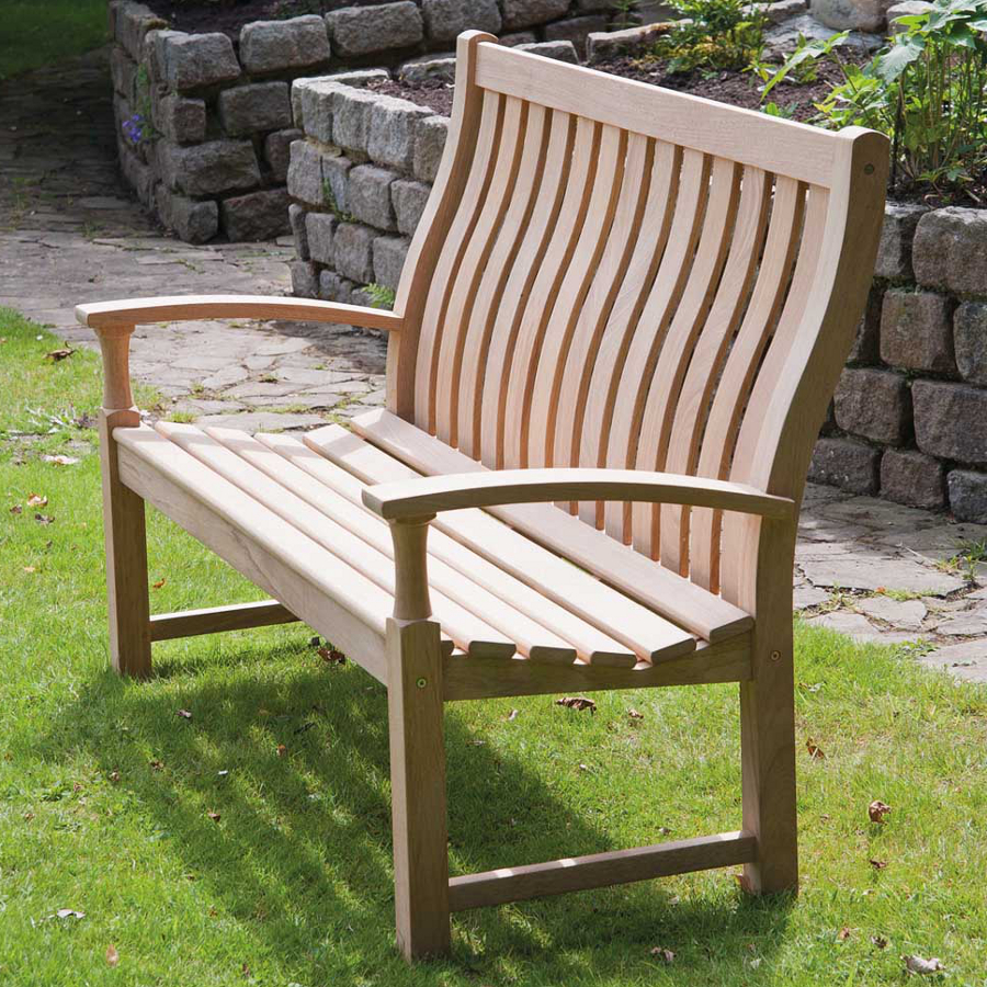 Extra image of Roble Santa Cruz 5ft High Back FSC Garden Bench from Alexander Rose