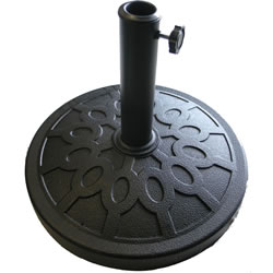 Small Image of Black Resin and Fibreglass Parasol Base with Steel Pole