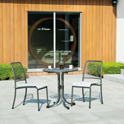 Small Image of Portofino Round 2 Seater Bistro Set by Alexander Rose