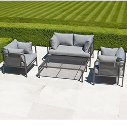 Small Image of Portofino Lounge Sofa Garden Furniture Set by Alexander Rose
