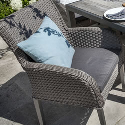 Image of Hartman Atlanta Dining Chair with Cushion - Platinum / Pebble