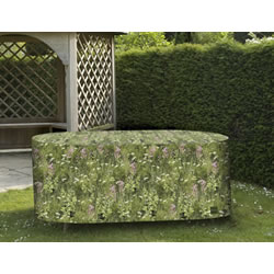 Small Image of Camouflage Medium Oval Patio Furniture Cover - Long Grass