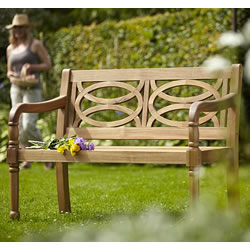Small Image of Cleobury 2 Seater FSC Garden Bench from Hartman