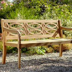 Small Image of Cleobury 3 Seater FSC Garden Bench from Hartman