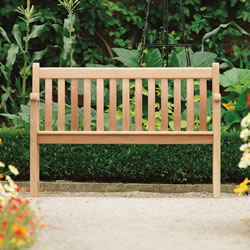 Small Image of Mahogany Broadfield 4ft FSC Garden Bench from Alexander Rose
