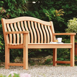Small Image of Mahogany Turnberry 5ft FSC Garden Bench from Alexander Rose