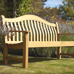 Small Image of Norbury 3 Seater Hardwood Garden Bench from Hartman