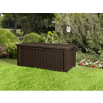 Keter Rockwood Storage Box from Garden Must Haves - Dark Brown Wood Effect