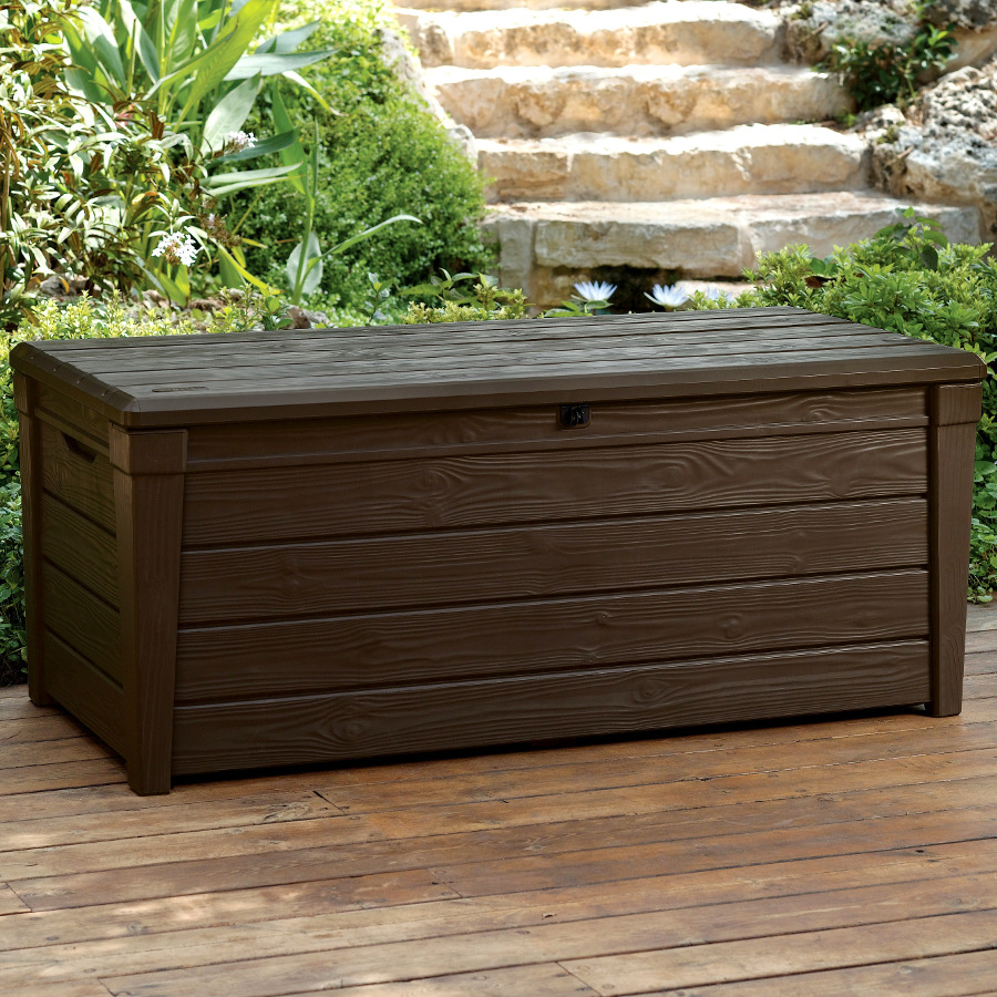 saxon storage box from garden must haves dark brown wood effect