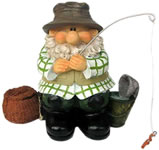 Garden Gnomes - Woodland Wilf Goes Fishing
