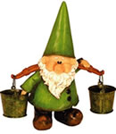 Garden Gnomes - Woodland Wilf Looks Pail Ornament