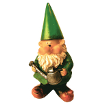Garden Gnomes - Woodland Wilf Tends to the Flowers
