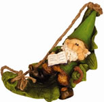 Garden Gnomes - Woodland Wilf Whiles Away the Hours