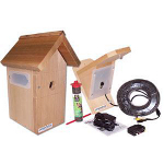 Small Image of Bird Nesting Box and Bird Feeder with Ultra Hi Resolution Colour Camera