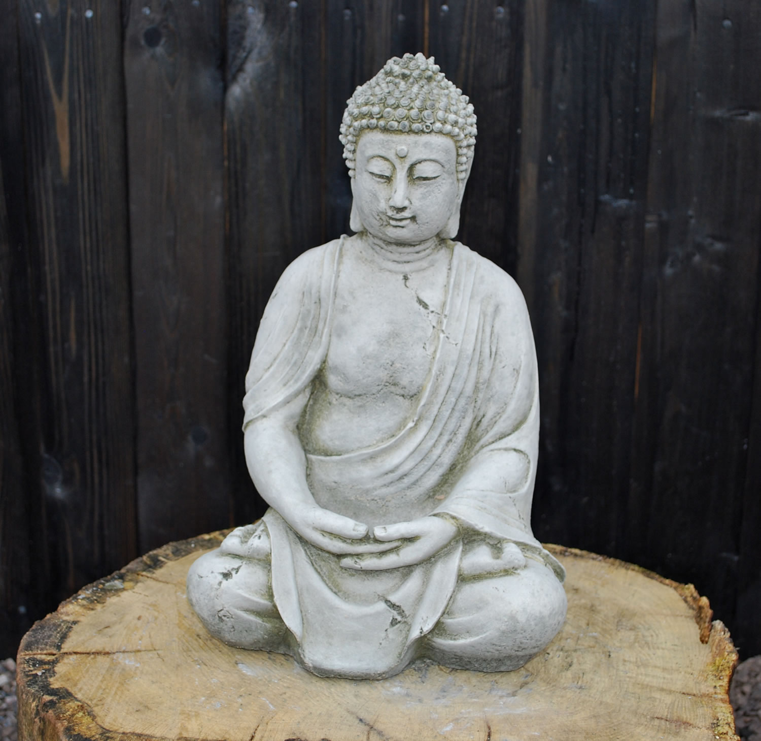 Ancient Buddha Stone Garden Ornament - BD12 - £35.99  Garden4Less UK ...