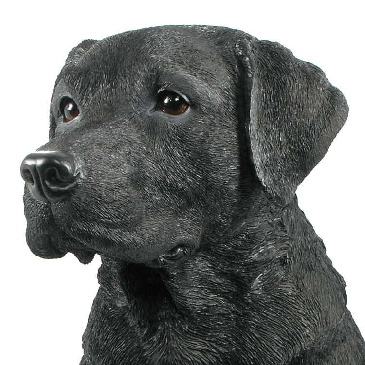 Lovely Black Labrador   Dog Resin Garden Ornament