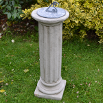 Column and Lead Sundial Garden Ornament