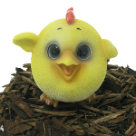 Image of Cute and Playful Chick - Resin Garden Ornament