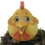 Image of Cute and Playful Cockerel - Resin Garden Ornament
