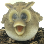 Image of Cute and Playful Wise Owl Mother - Resin Garden Ornament