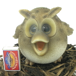 Extra image of Cute and Playful Wise Owl Mother - Resin Garden Ornament