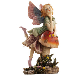 Small Image of Fairy Dust Twin: Mushroom Garden Ornaments