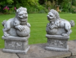 Chinese Foo Dogs Garden Ornaments - Pair