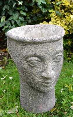Head Vase Stone Garden Planter Garden4less Uk Shop