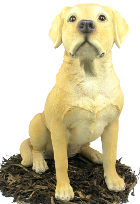 Image of Golden Labrador Dog - Resin Garden Ornament