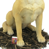 Extra image of Golden Labrador Dog - Resin Garden Ornament