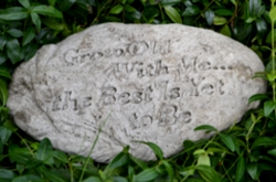 Image of Grow Old Stone Garden Plaque