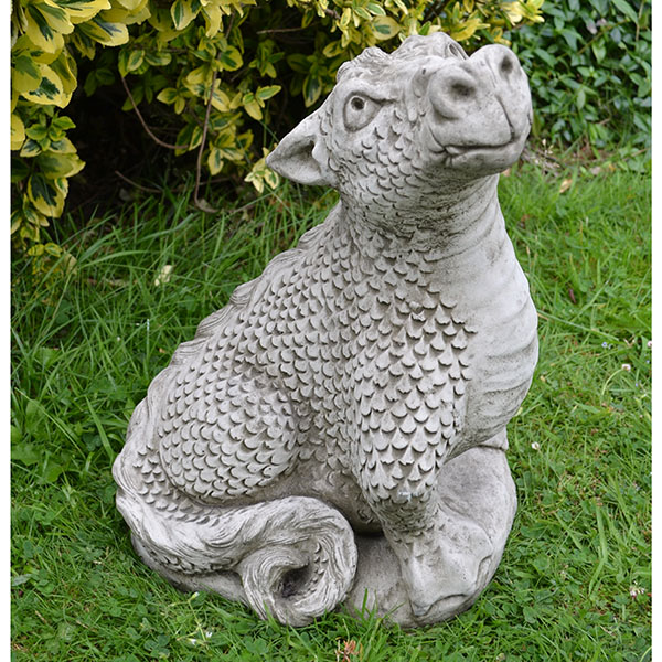 Head Up Dragon Garden Ornament DN12 6299 Garden4Less UK Shop