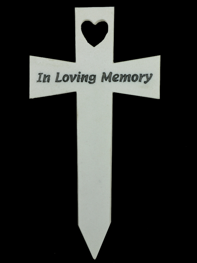 Memorial Cross - In Loving Memory - £14.24 | Garden4Less ...