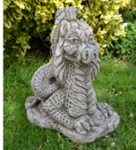 Large Welsh Dragon Stone Garden Ornament