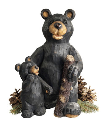 Image of Black Forest Bears Resin Garden Ornament by Design Toscano