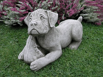 Image of Boxer Dog Garden Ornament - DS7