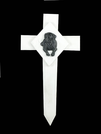 Image of Memorial Cross Marker - Dog