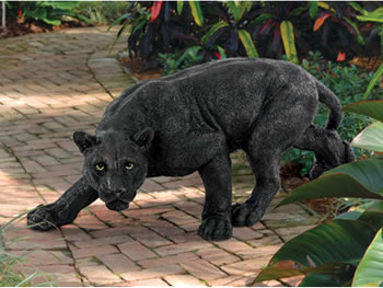 Image of Shadowed Predator Panther Statue Resin Ornament