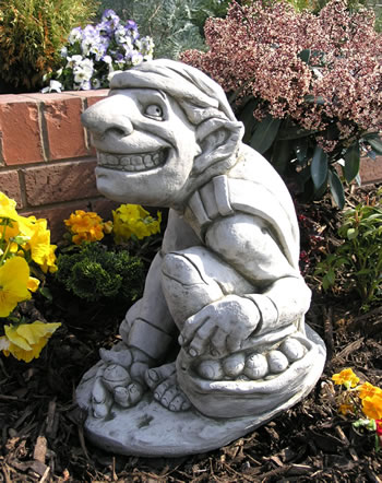 Image of Snail Catcher Pixie Garden Ornament
