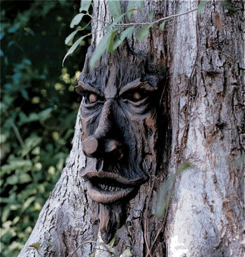 Image of Spirit of Nottingham Woods Greenman Resin Garden Ornament