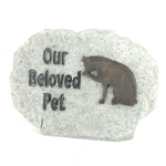 Image of Our Beloved Pet - Cat Memorial Stone Plaque