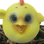 Extra image of Cute and Playful Chick - Resin Garden Ornament
