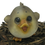 Image of Cute and Playful Duckling - Resin Garden Ornament