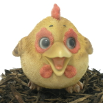 Image of Cute and Playful Hen - Resin Garden Ornament