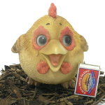 Extra image of Cute and Playful Hen - Resin Garden Ornament