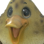 Extra image of Cute and Playful Mother Duck - Resin Garden Ornament