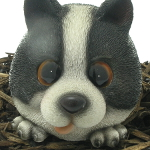 Extra image of Vivid Cute and Playful Sheepdog Puppy Lifelike Resin Garden Ornament