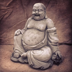 Small Image of Happy Sitting Buddha Garden Ornament
