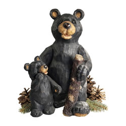 Small Image of Black Forest Bears Resin Garden Ornament