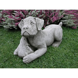 Image Of Boxer Dog Garden Ornament   DS7